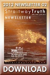 Download: Straitway Newsletter 2012 02 'His Name'